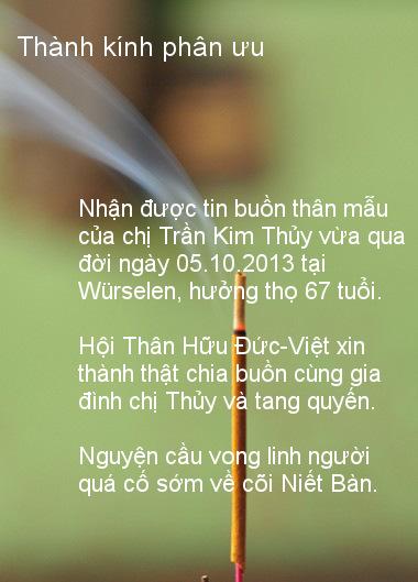 thanh kinh phan uu me chi Thuy